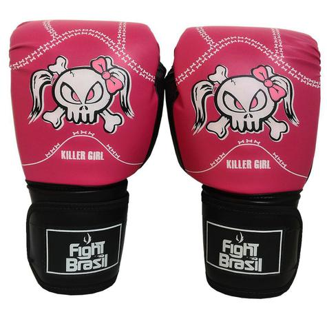 4ad28d4e0 Luva Muay Thai Luva Boxe 10 Oz Fight Brasil Killer Girl Feminina ...