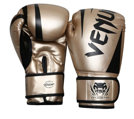 c389d2f59f Luva Profissional Boxe Muay thai Kickboxing - New Challenger - Dourada - 16  oz - Venum