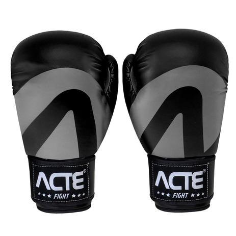 6678d6963 Luvas De Boxe E Muay Thai Em Couro De Pu Preta Acte - Luva de Boxe ...