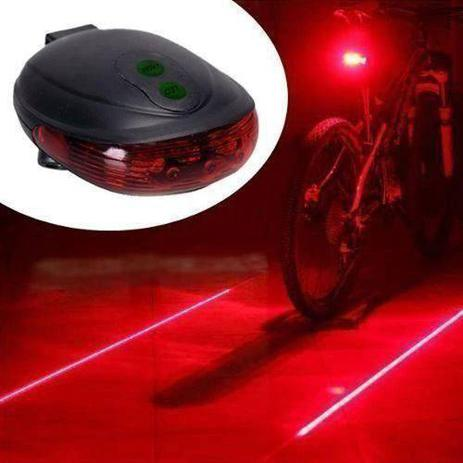 Imagem de Luz  para Bike de led e laser Ciclofaixas  BAILONG preto