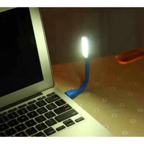 Imagem de Luz USB Flexível Para Notebook Pc Desktop Azul