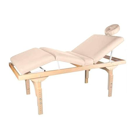 Imagem de Maca De Massagem Fixa 3 Posições Com Altura Regulável E Orifício Belatrix Spa - Legno