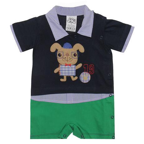 Macacão Conjunto Menino Azul - Cachorrinho Esperto - Beka Baby - Keko baby ccad37e2f7c