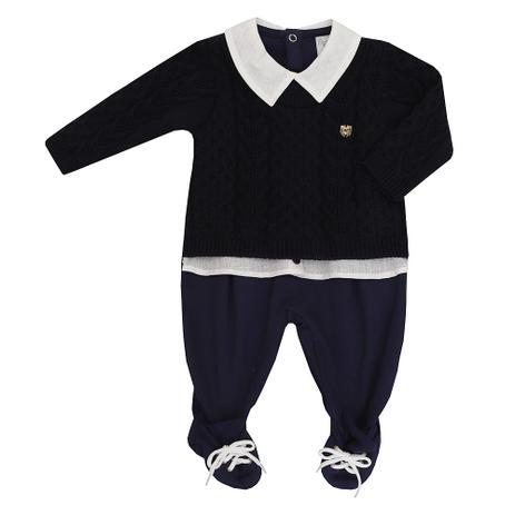 3d73bc981c9eff Menor preço em Macacão de bebê Masculino Suedine e Tricot Gustavo - Beth  bebe