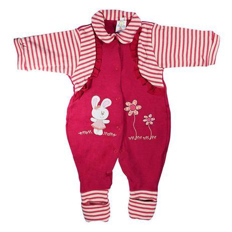 0b3539973e332 Macacão Longo Menina Vermelho - Jardim Feliz - Bloomy s Baby - Bloomys baby