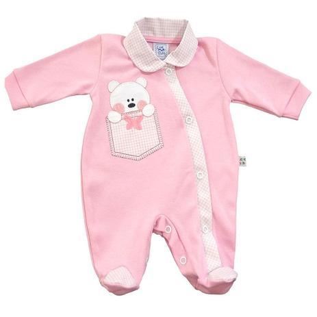 Macacão Longo Ursinho Prematuro Rosa - Lene Baby - Macacão e ... 6139717e711