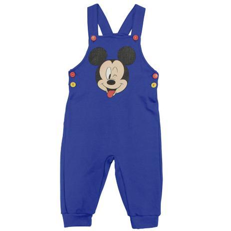 47d928c8eaf88d Macacão Manga Curta em Suedine - Azul - Be Mickey - Disney