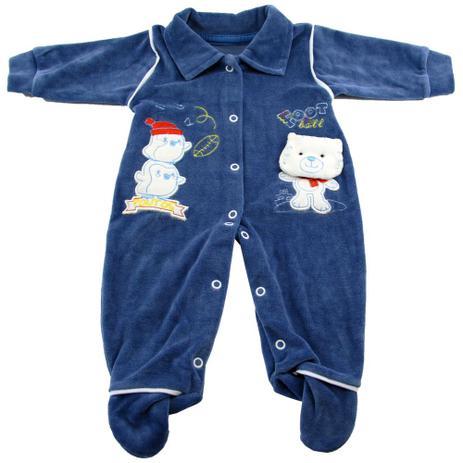 Macacão Plush Pinguim Azul - Brokinha - Macacão e Jardineira para ... b663738e2a1