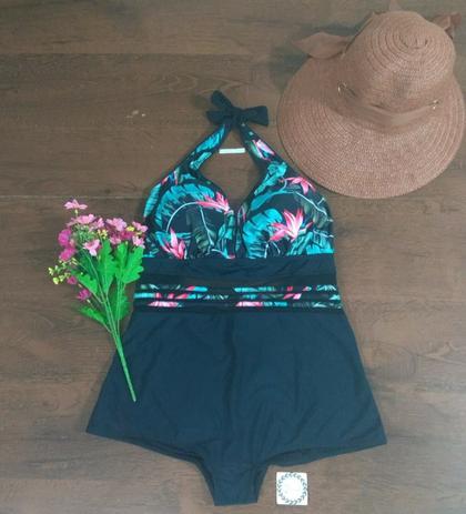 cf9685ebc Maiô Plus Size Tulê Tamanho M Cor Preto - Breeza store - Maiô Plus ...
