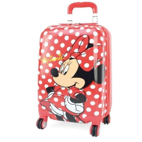 5e24d5b3d Mala Viagem Minnie Rodas 360 Rigida Disney Original Verm P - Mala ...