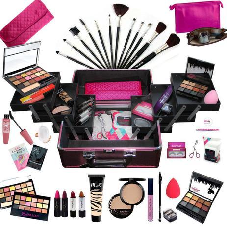 Imagem de Maleta Com Maquiagem Completa Profissional Ruby Rose + Necessaire - BZ02