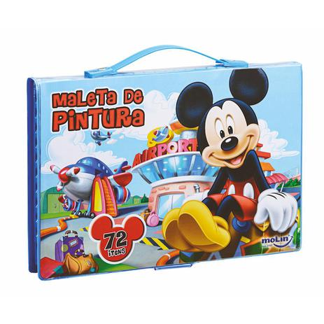 cdd6576f5 Maleta de Pintura Completa Mickey Mouse C/ 72 Ítens - Molin ...