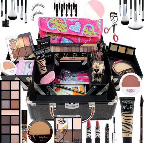 Imagem de Maleta Maquiagem Completa Ruby Rose Macrilan