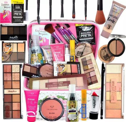 Imagem de Maleta Maquiagem Top Profissional Completa Ruby Rose Brinde