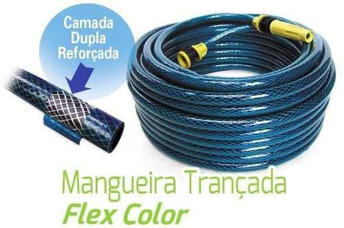 Imagem de Mangueira Casa e Jardim 15 Metros 7/16 Polegadas Trançada Resistente Flexcolor