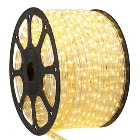 Menor preço em Mangueira Fita 220V LED Branco Quente Rolo 100m com 4 tomadas - Kit led
