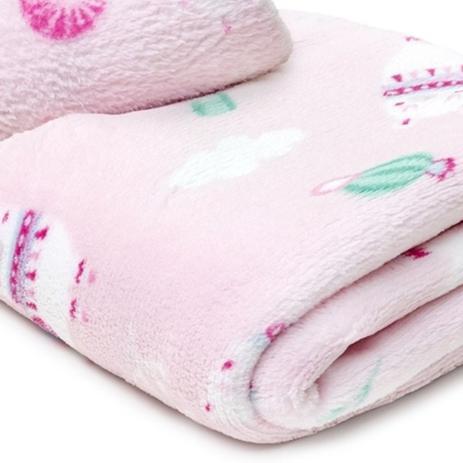 Imagem de Manta Cobertor Menina Menino Mantinha Microfibra Soft Quentinha Estampada Bebe