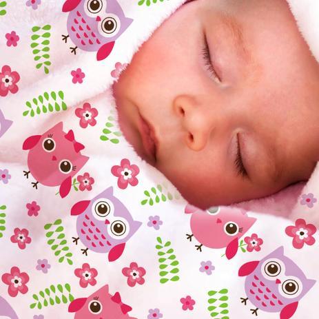 04289086c7 Manta de Bebê Soft - Toque Macio e Suave Antialérgico - Corujinha - Kitstar