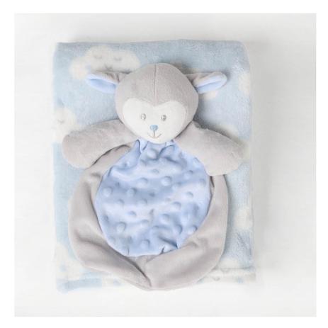 Imagem de Manta Infantil Naninha Ovelhinha - Azul