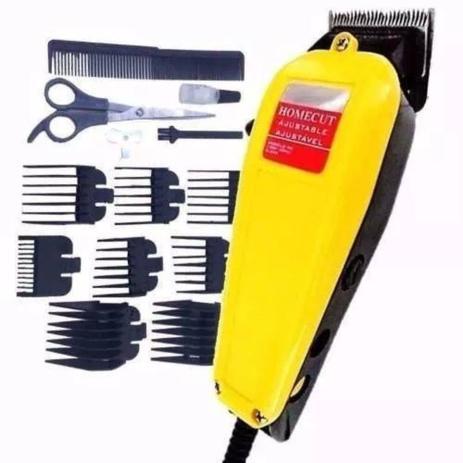 Imagem de Maquina cortar cabelo profissional Amarela 110v