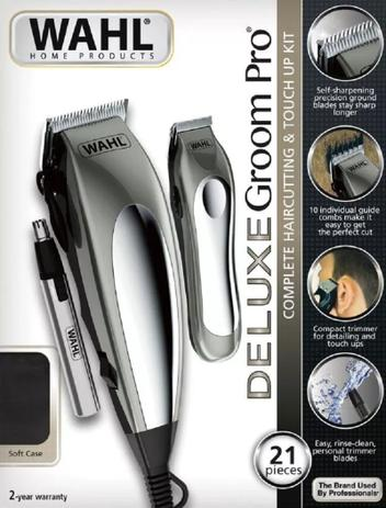 cd4f1c3d8 Máquina Corte Wahl Deluxe Groom Pro Cabelo Barba Nariz - 220V ...