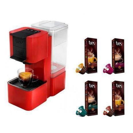 b45994fa7 Máquina de Café Expresso e Multibebidas Automática TRES Pop Plus Vermelha  127v - Tres coracoes