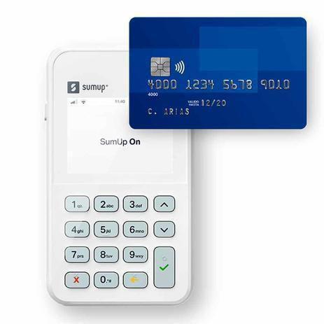 Imagem de Máquina de cartão Sumup On com wi -fi e 3G Vivo e NFC por aproximação - bateria de longa duração