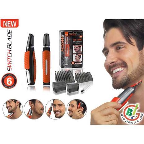 Imagem de Maquina de cortar cabelo aparador de pelos sem fio com led para nariz orelha barba sobrancelha para