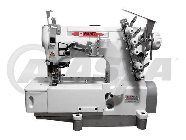 Imagem de Máquina de Costura Galoneira Industrial Completa, 3 Agulhas, 5 Fios, Base Plana Fechada, 5000ppm, EX31016