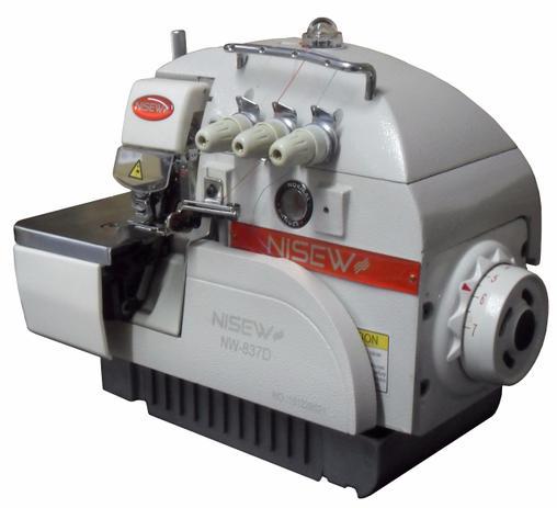 Imagem de Máquina de Costura Industrial Overlock c/ Direct Drive, 1 Agulha, 3 Fios, 5000ppm, NW837D