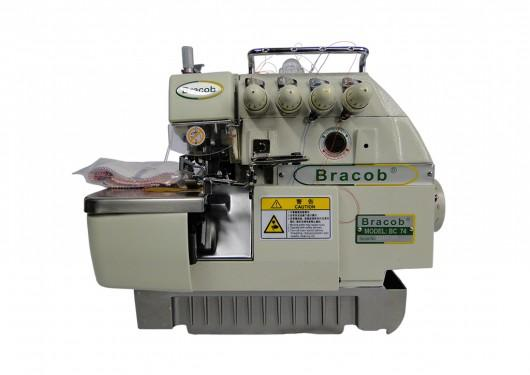 Imagem de Máquina de Costura Industrial Overlock Ponto Cadeia Completa, 2 Agulhas, 4 Fios, 6000rpm, BC74