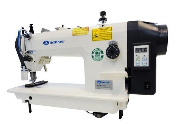Imagem de Maquina de costura reta sansei transporte duplo dente e calcador modelo sa-mq 0303d - 220 vlts
