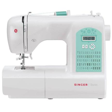 Imagem de Máquina de Costura Singer Starlet 6660 220V Branca e Verde para Uso Doméstico