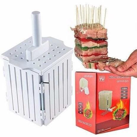 1e3f182820d Maquina de preparar espetinhos de churrasco cortador de carne e kafta 36  espetinhos para festas e ev - Gimp