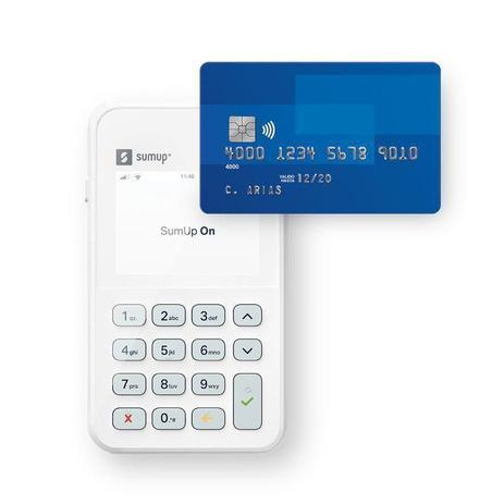 Imagem de Maquina Sumup on - com chip da vivo, wi-fi integrado, bateria de longa duração e pag por aprox NFC