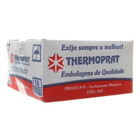 Imagem de Marmitex de Alumínio nº8 com Tampa - 850ml Caixa com 100un Thermoprat