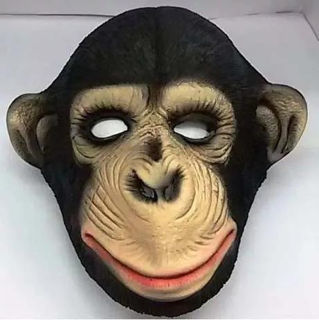 Máscara Chimpanzé Macaco Animal Fantasia Carnaval Halloween - Spook