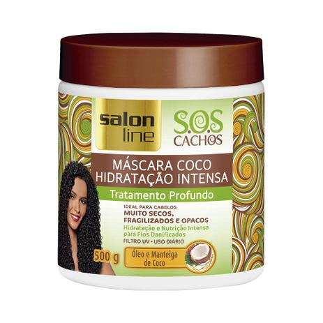 6afdd85fd Máscara Coco S.O.S Cachos Tratamento Profundo 500g - Salon Line ...