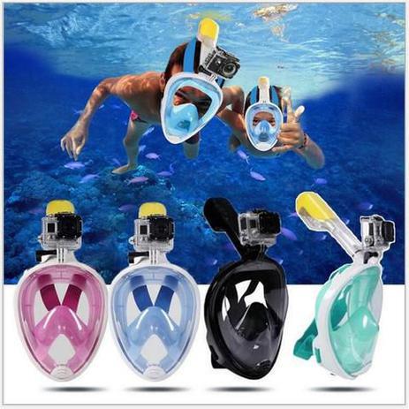 e39503765 Máscara de mergulho Full face de rosto inteiro - Rosa G GG - Fullmask