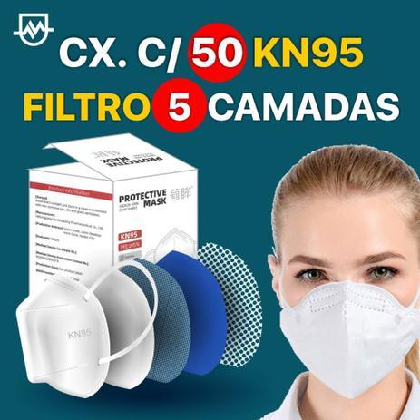 Menor preço em Máscara Descartável KN95 filtro de 5 camadas c/50 unidades - Heilongjiang Hanfangkang Pharm