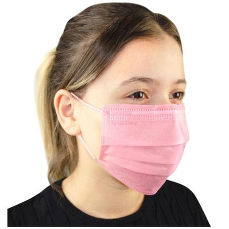 Imagem de Mascara descartável rosa com elástico 25un santa clara
