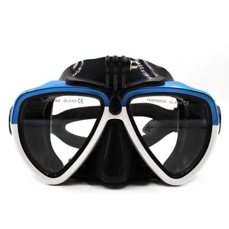 f97db973c Mascara Óculos de Mergulho para Câmeras de Ação Telesin DIV-GS2 Tamanho  Único Cor Branco+Azul
