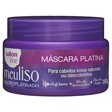 e1fa8e72b Máscara Pós-progressiva Meu Liso Loiroplatinado - 300g - Salon line ...