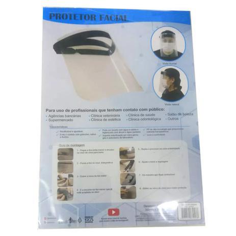 Imagem de Máscara Protetor Facial com Visor Transparente em Polipropileno Face Shield