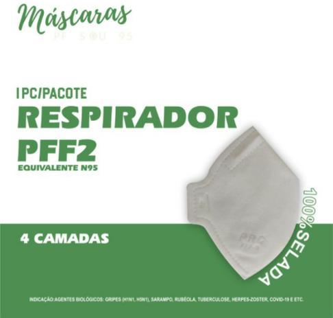 Imagem de Máscara Respirador Proteção PRC PFF2