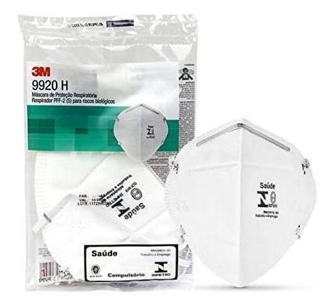 Imagem de Máscaras de Proteção Respiratória 3M - 9920H Respirador PFF-2 (S) para Riscos Biológicos