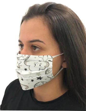 Imagem de Máscaras De Tecido Reutilizáveis 100% algodao tricoline com elastico Ceu