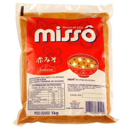 Imagem de Massa de Soja Vermelha Missô Aka Sakura 1kg