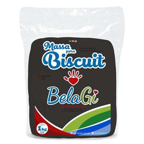 Imagem de Massa para Biscuit BelaGI com 1kg - Preto
