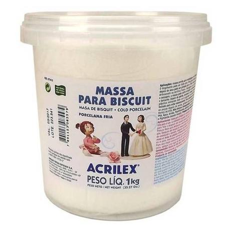 Imagem de Massa para Biscuit Ou Porcelana Fria 1kg Banca Acrilex